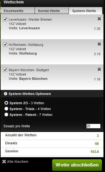 bet at home systemwette