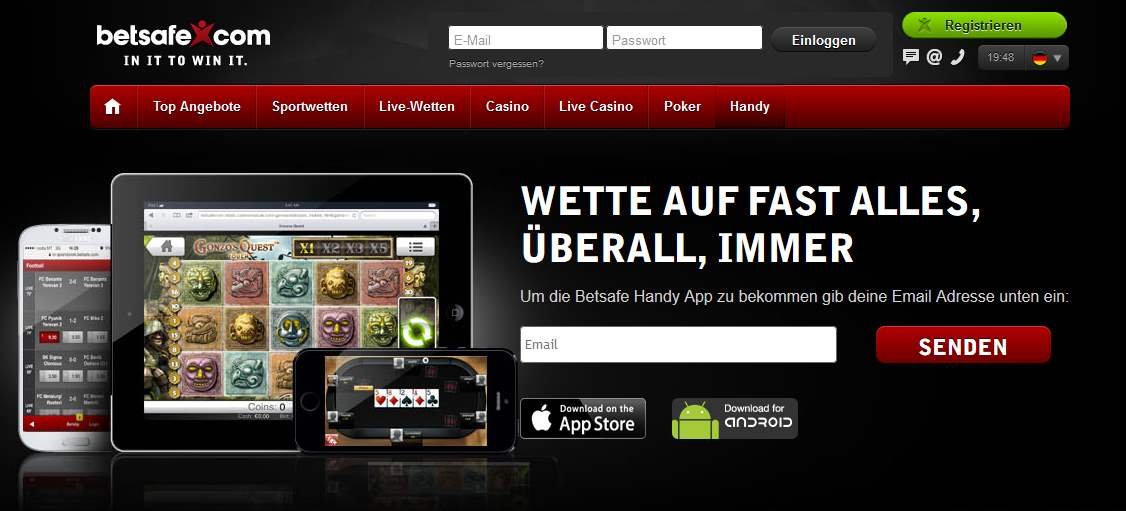 betsafe App – mobil für iPhone & Android – Online Live Wetten