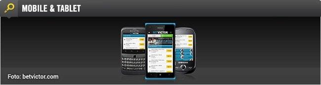 BetVictor App für mobile Sportwetten