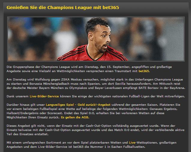 sportwetten quote champions league