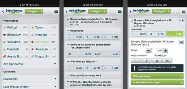bet-at-home App Wetten