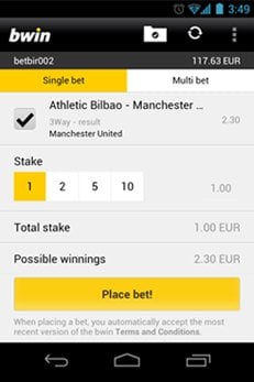 bwin mobile app-android-app