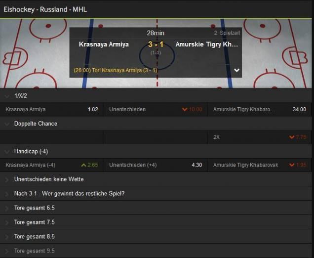 betway Eishockey Livewette