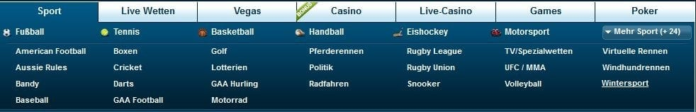 William Hill Erfahrungen - Wettangebot