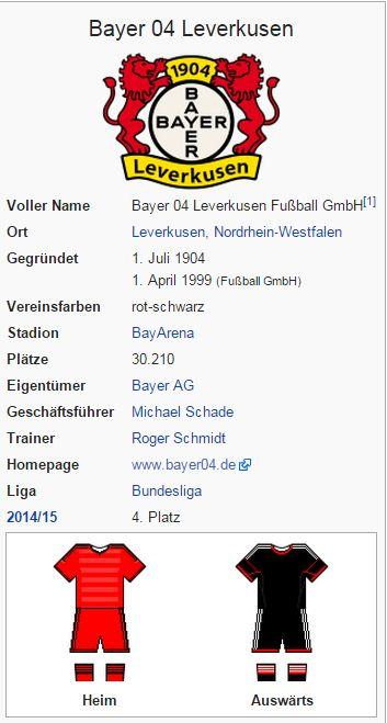 Bayer 04 Leverkusen – Wikipedia