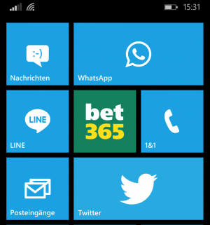 Die Bet365 App für Windows Phone