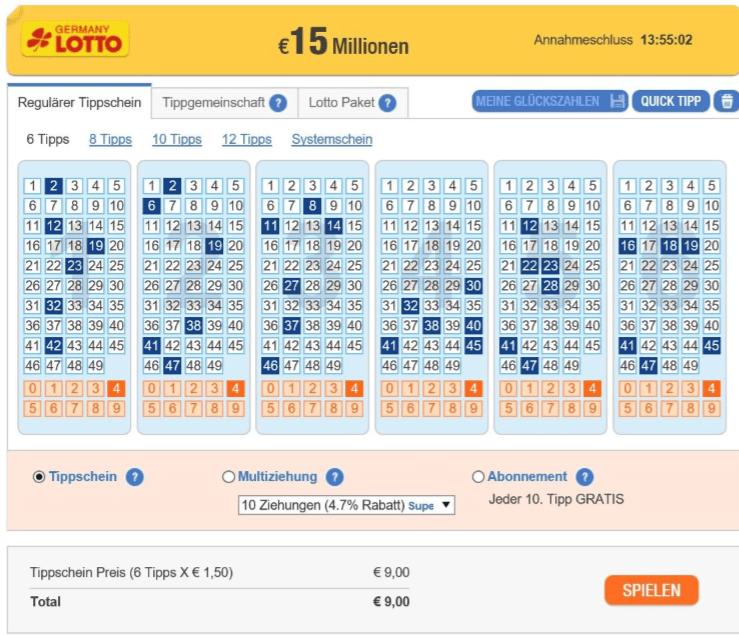 lotto im internet spielen