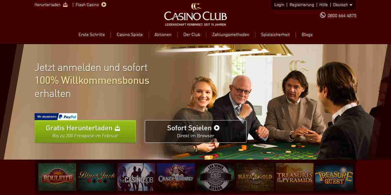 Casino Club - Webseite