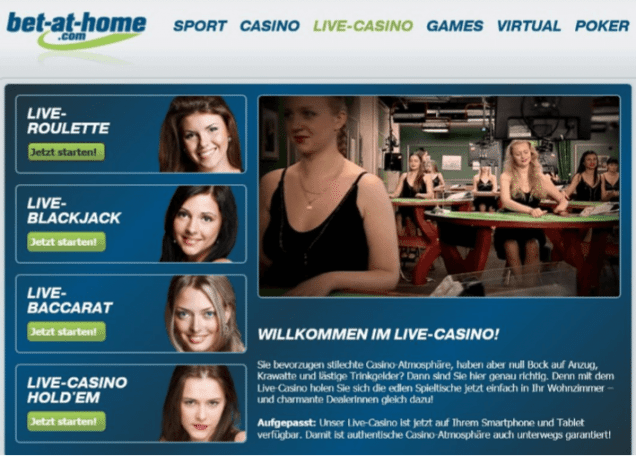 Das Live Casino meiner Nummer 1: Bet at Home