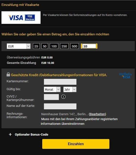 auf kreditkarte einzahlen