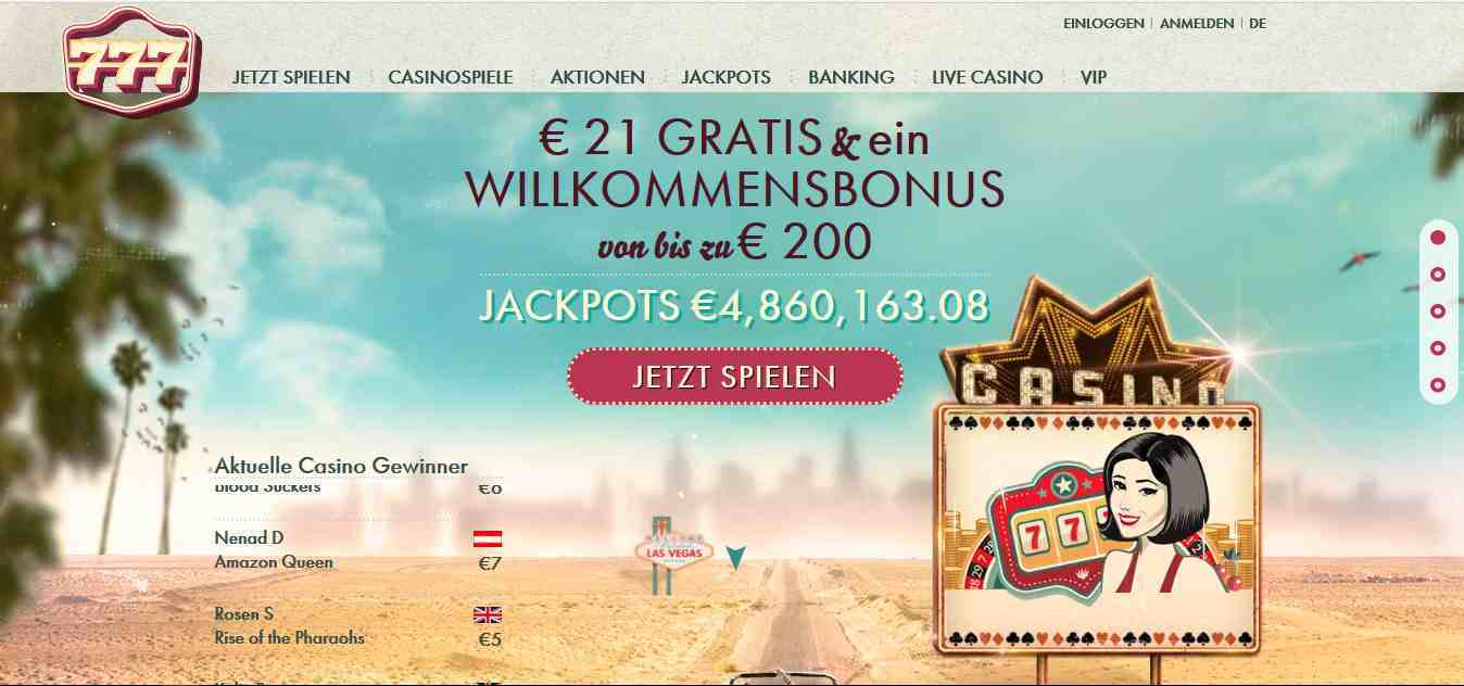 erfahrung 777 casino