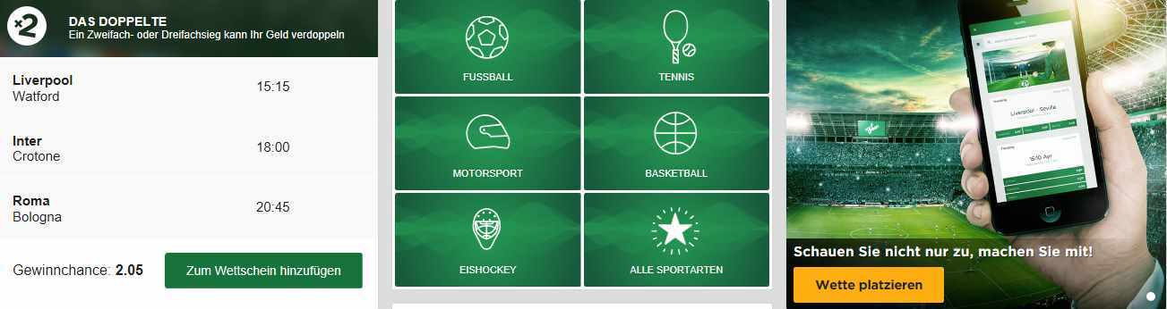 Mr. Green Test - Sportwetten
