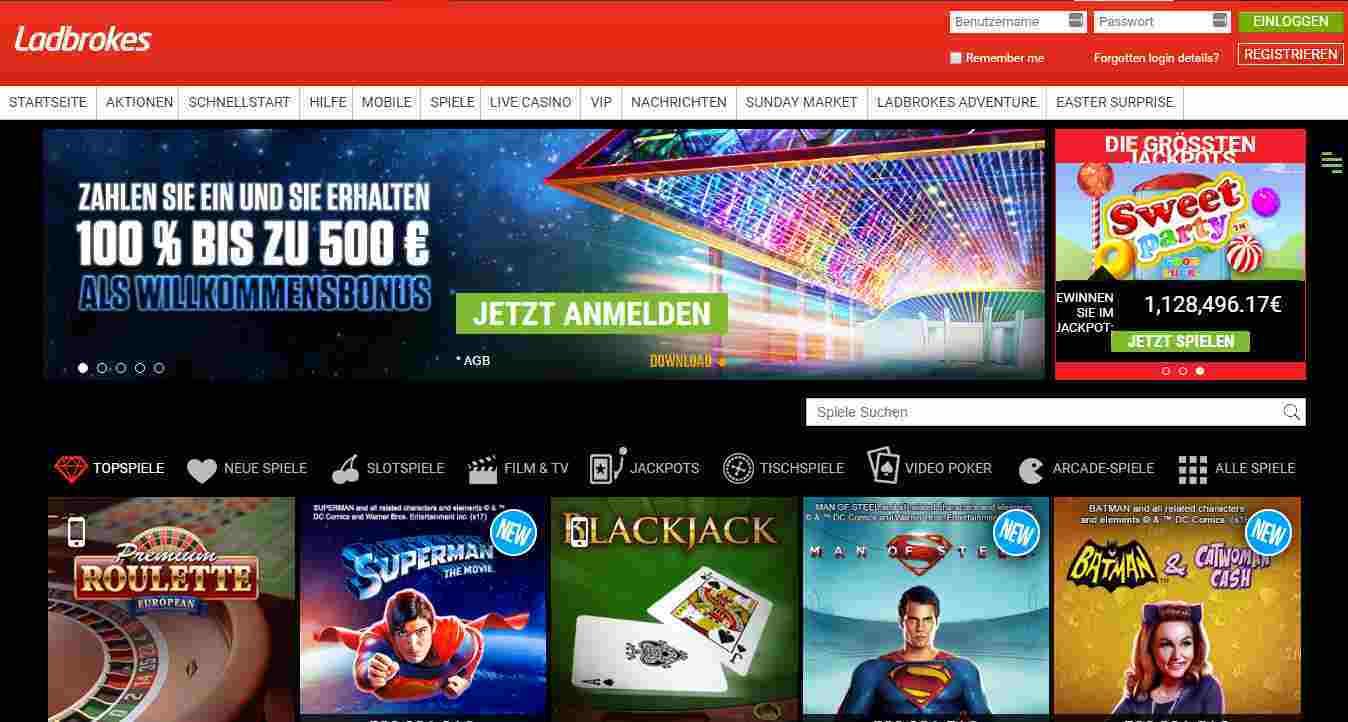 Ladbrokes Casino Erfahrungen - Header