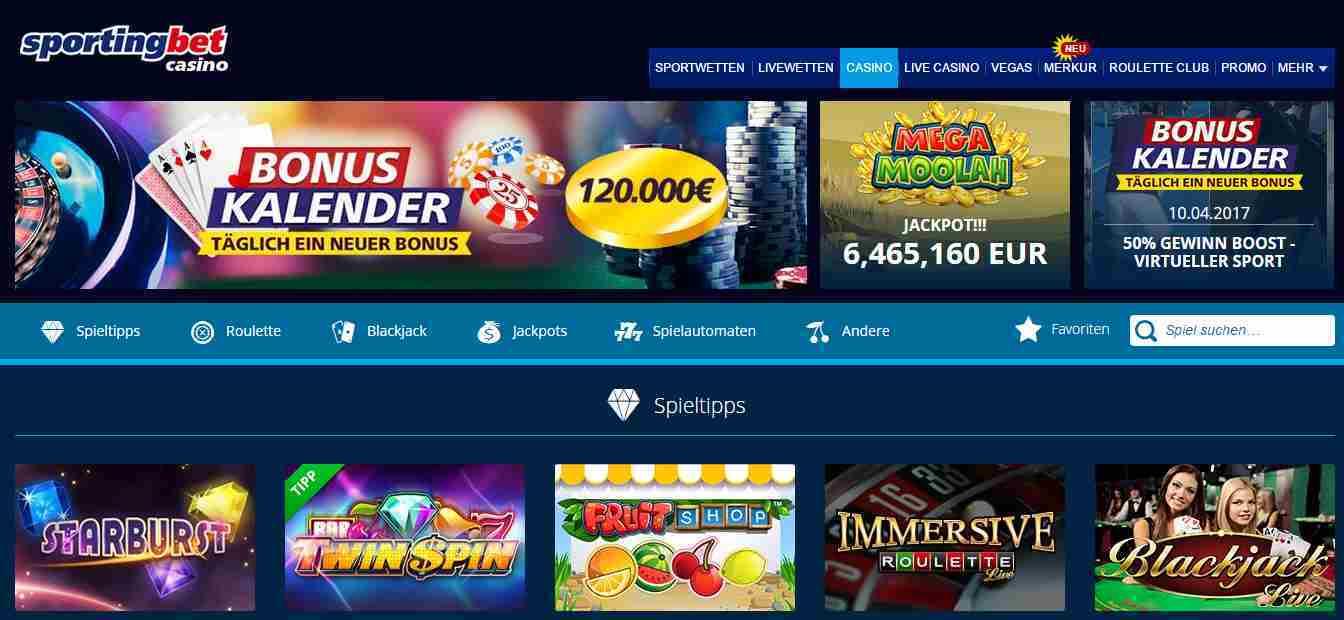 Sportingbet Casino Erfahrungen - Header