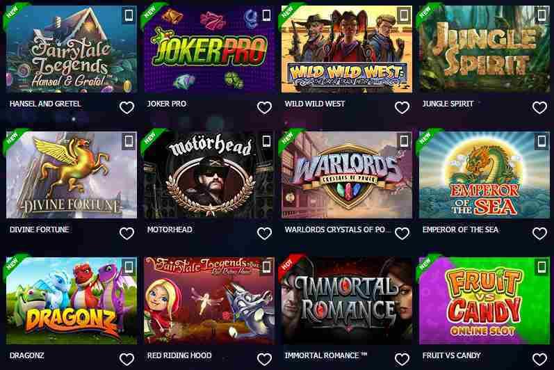 10Bet Casino Erfahrungen - Spieleangebot