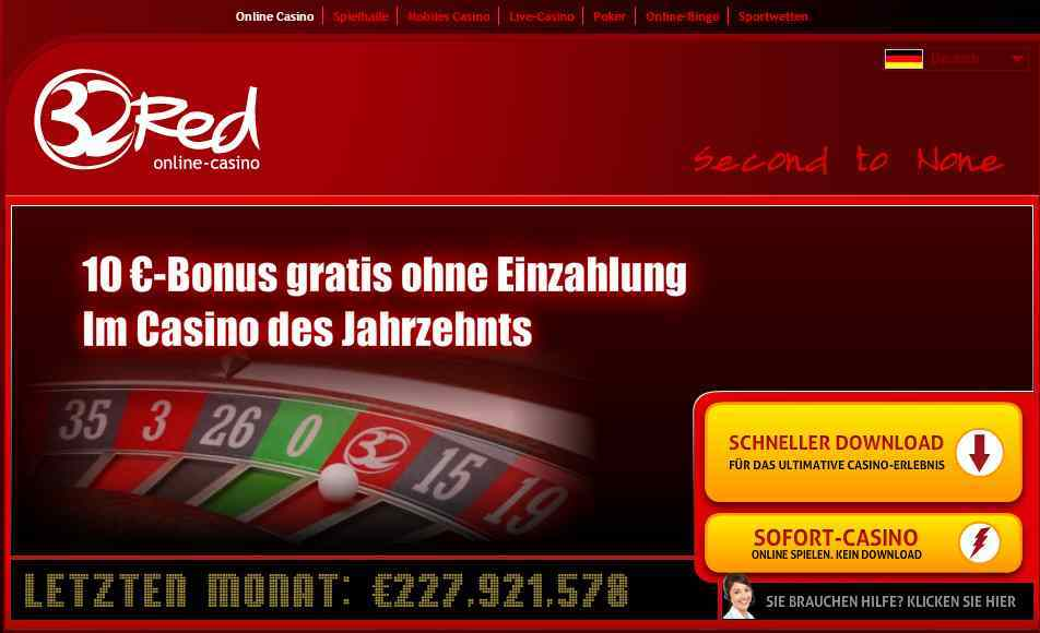 32Red Casino Erfahrungen - Header