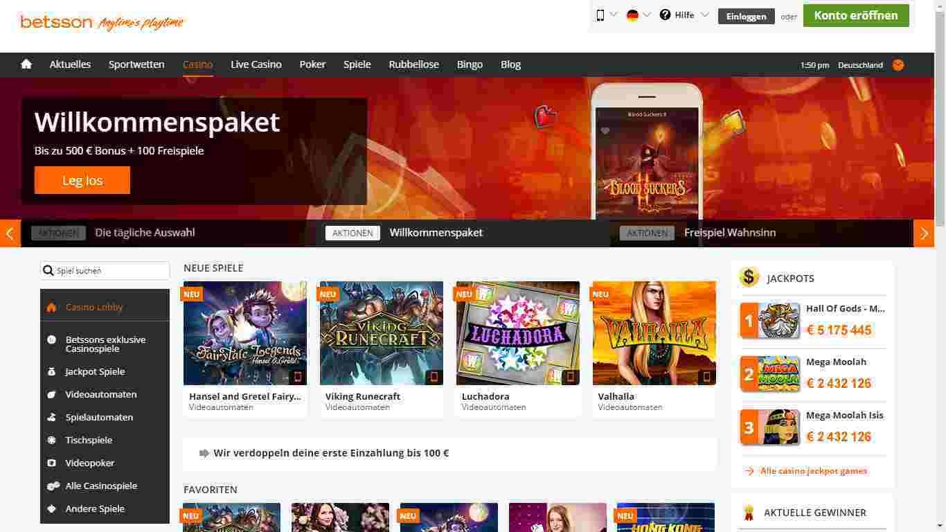Betsson Casino Erfahrungen – Das Online Casino von Betsson im Test