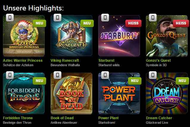 ComeOn Casino Erfahrungen - Spieleangebot