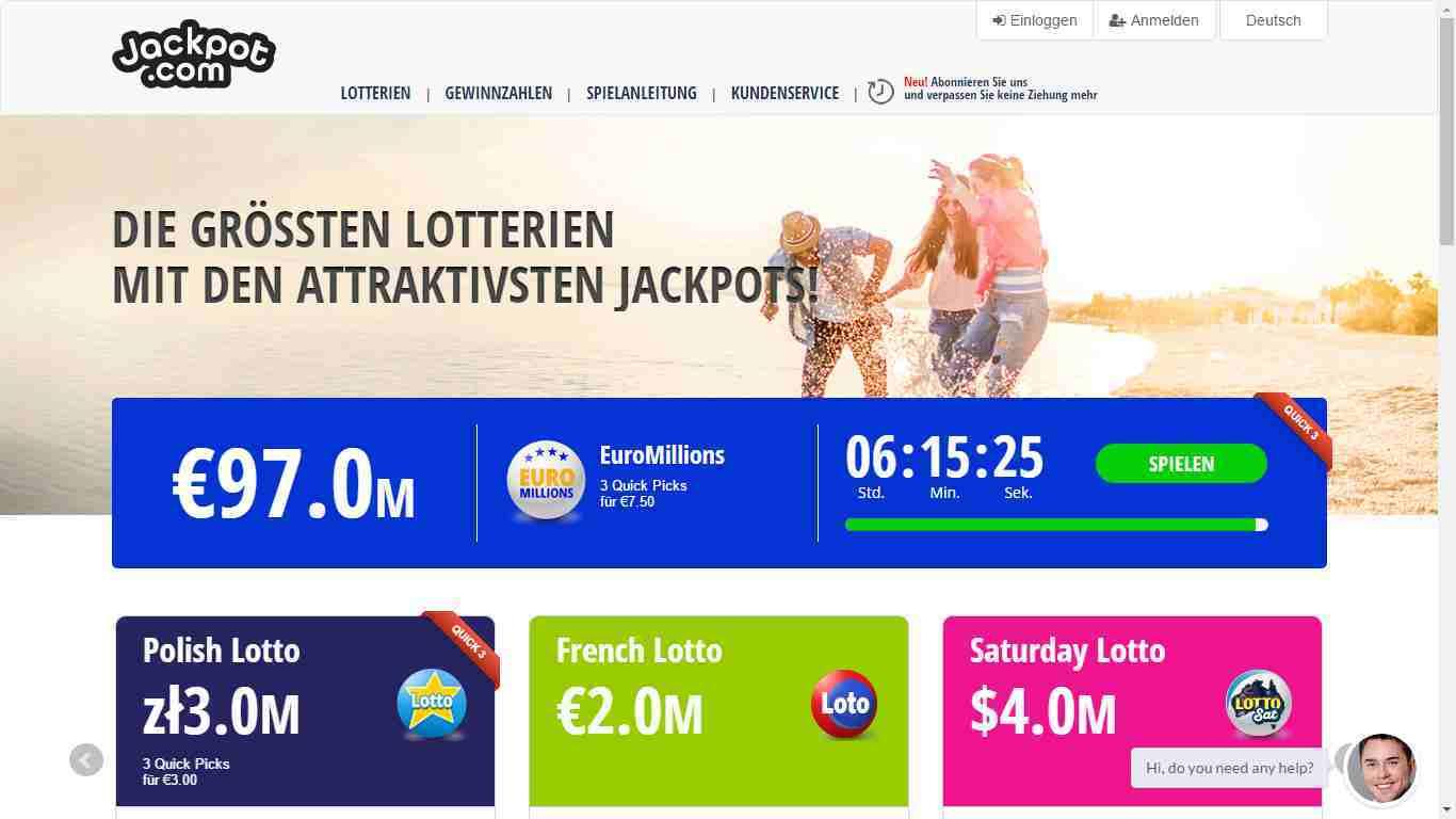 Jackpot.com Erfahrungen - Header