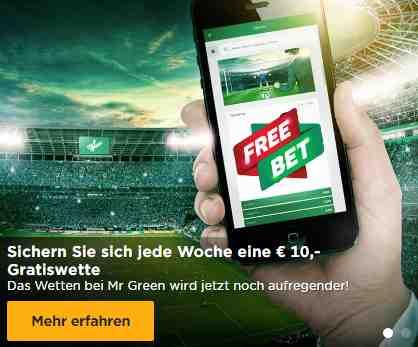 Mr. Green Sportwetten Erfahrungen - Bonus
