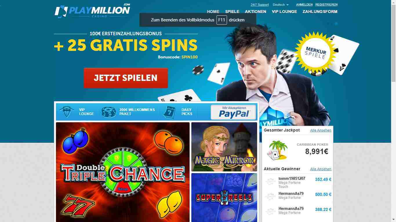 Playmillion Casino Login