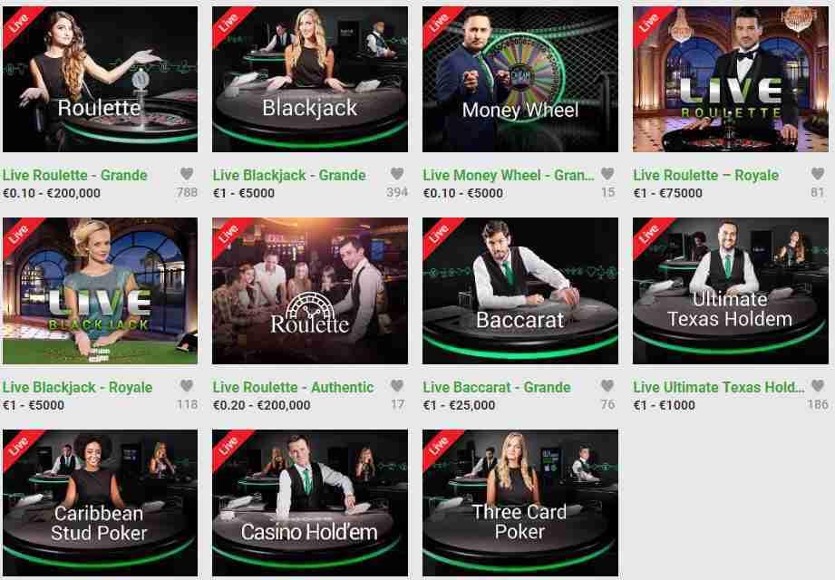 Unibet Casino Erfahrungen - Live Casino