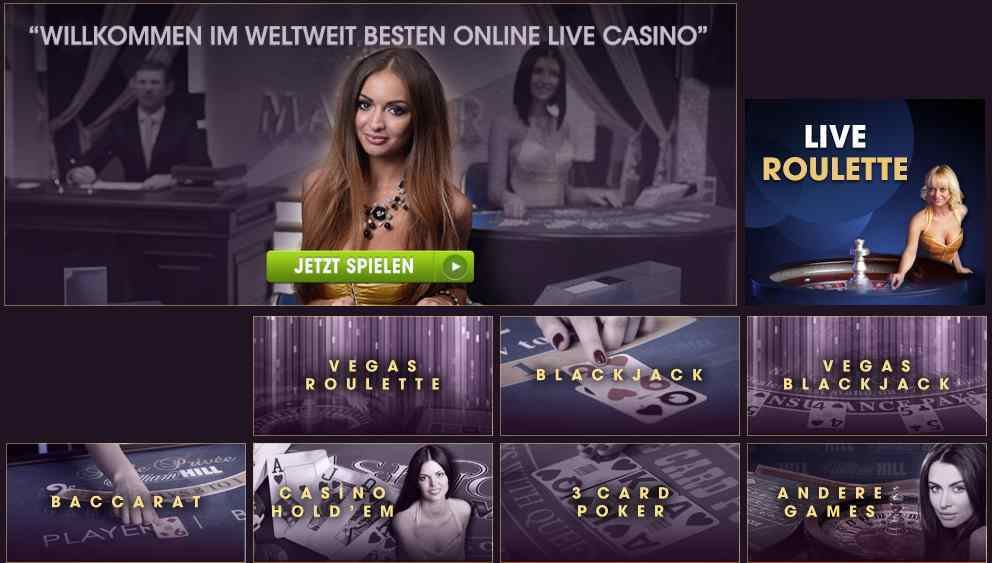 william hill online live casino