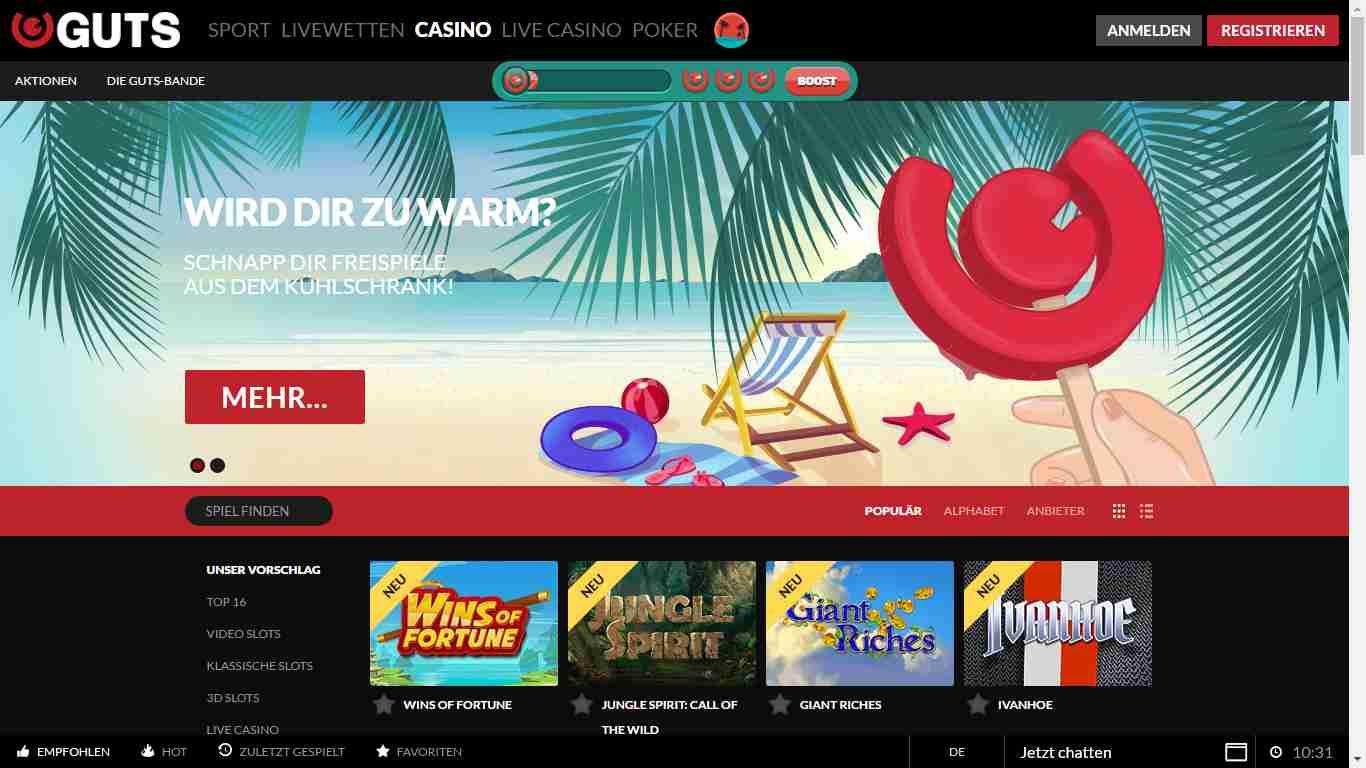 Guts Casino Erfahrungen – Das Online Casino von Guts im Test