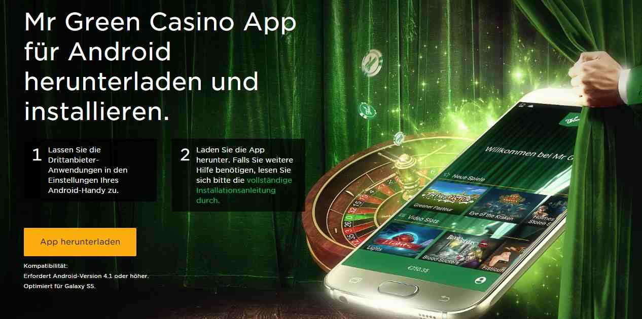 Mr. Green App - Android Download