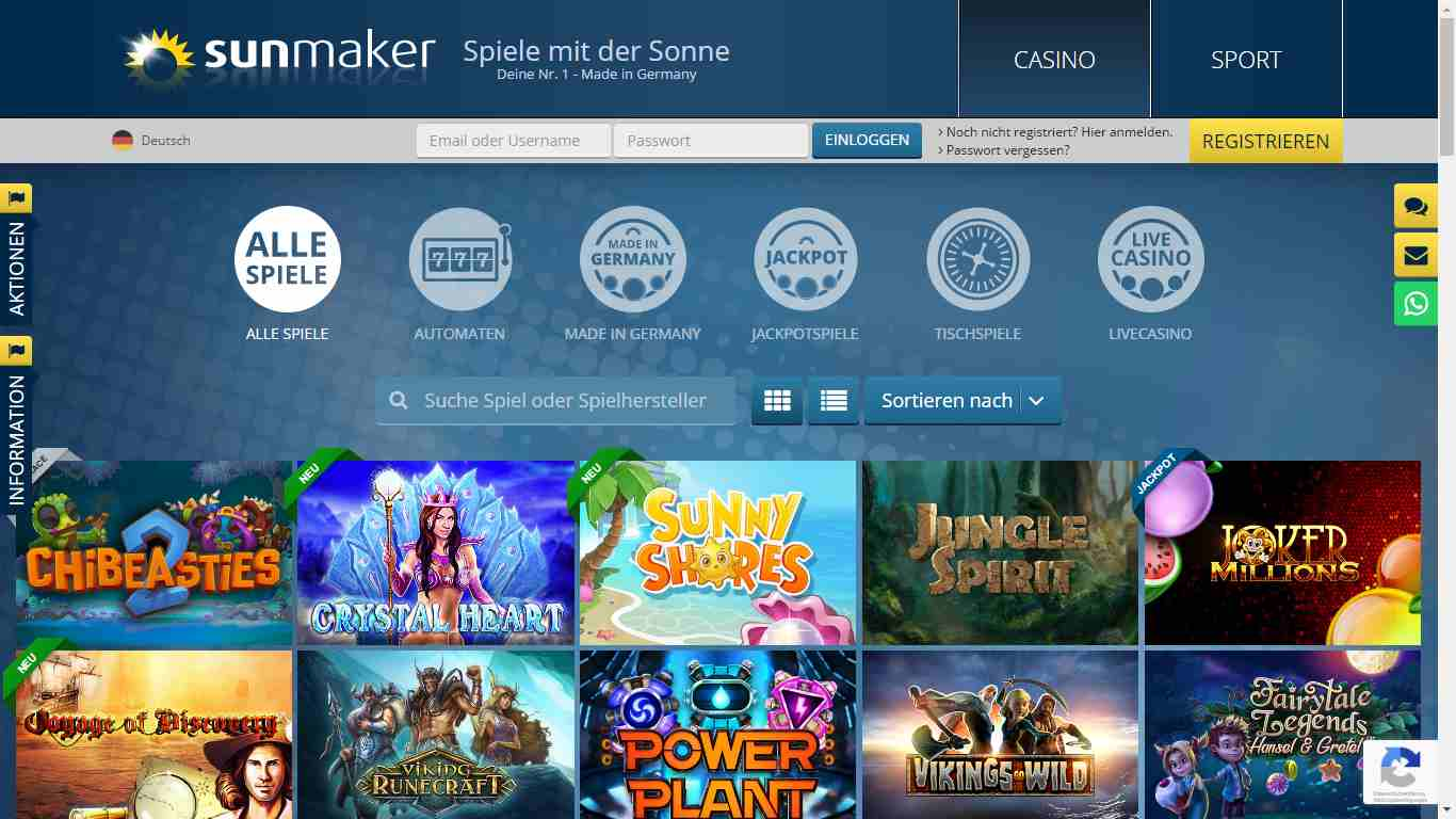 Sunmaker Casino Paypal