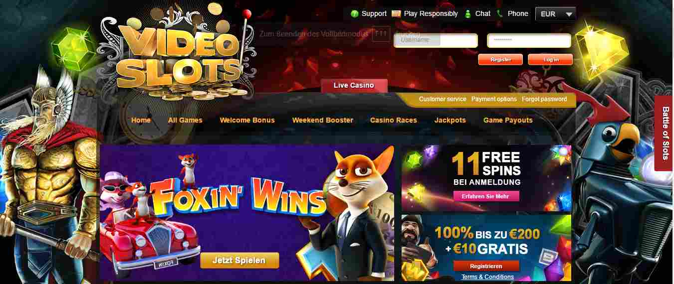 Video Slots Casino Erfahrungen - Header
