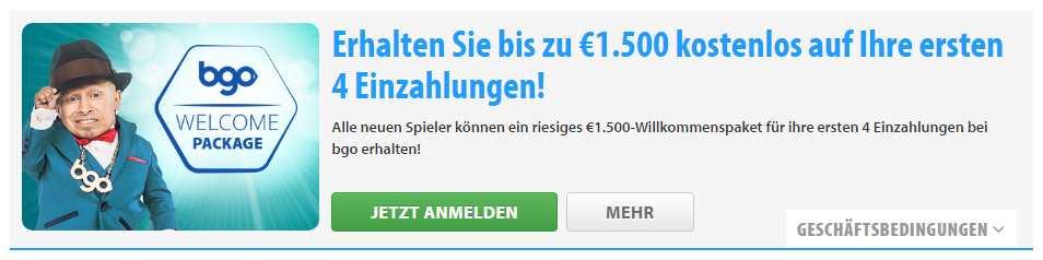bgo Casino Erfahrungen - Bonus