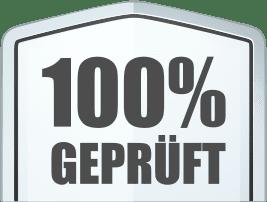 100% Geprüft