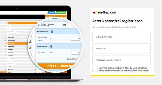 Wetten-com Registrieren