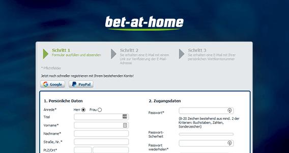 bet-at-home Anmeldung