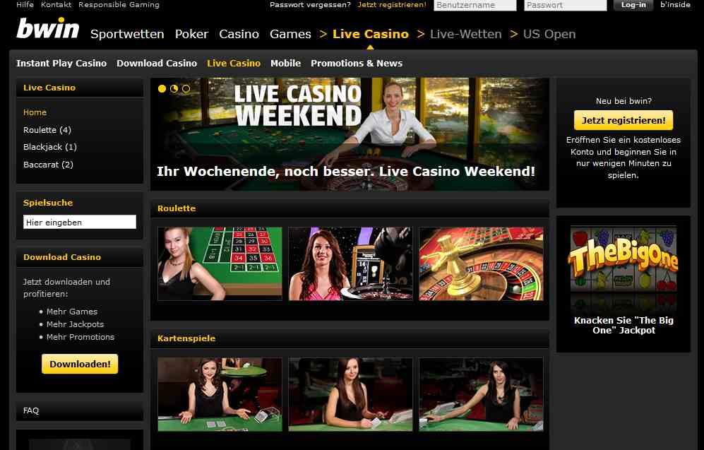 casino live bwin